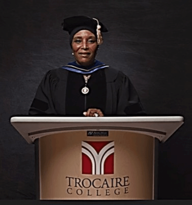 CHCB SPOTLIGHT – Dr. Ansari Serves as Distinguished Commencement Speaker at Trocaire College Virtual Graduation